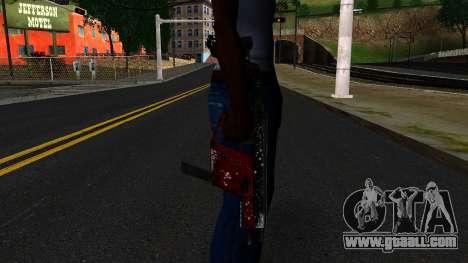 Christmas MP5 for GTA San Andreas third screenshot
