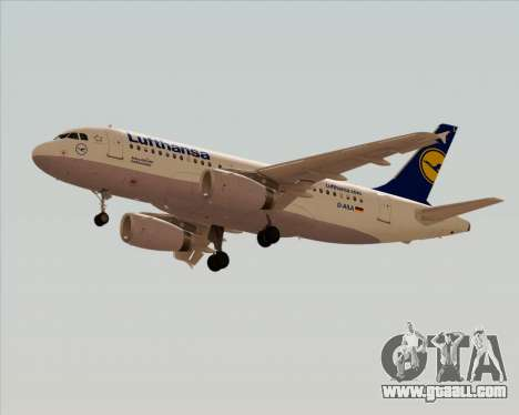 Airbus A319-100 Lufthansa for GTA San Andreas back left view