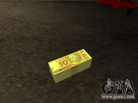 Mod of the Brazilian money for GTA San Andreas