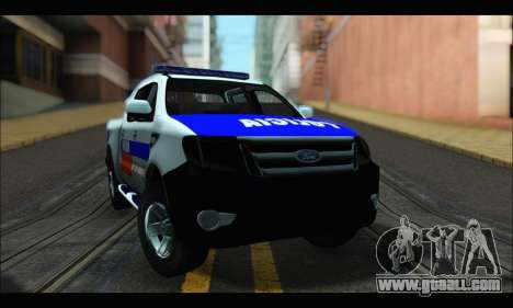 Ford Ranger P.B.A 2015 for GTA San Andreas back left view