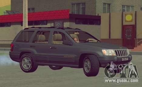 Jeep Grand Cherokee WJ for GTA San Andreas inner view