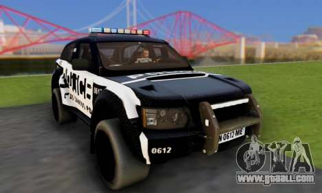 Bowler EXR S 2012 v1.0 Police for GTA San Andreas back view