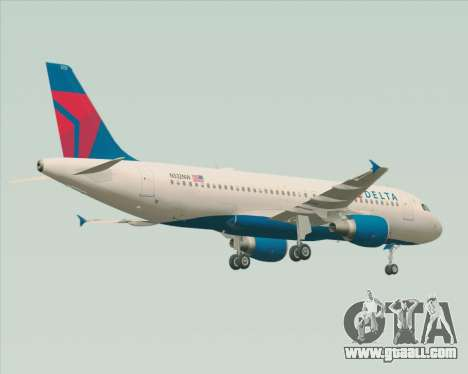 Airbus  A320-200 Delta Airlines for GTA San Andreas back view
