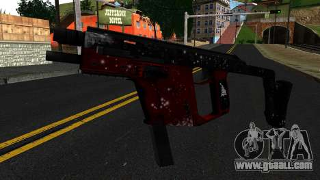 Christmas MP5 for GTA San Andreas