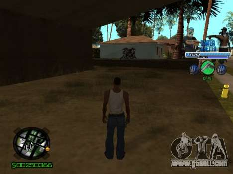 С-Hud Tawer-Ghetto v1.6 Classic for GTA San Andreas