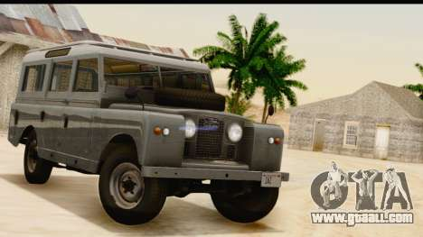 Land Rover Series IIa LWB Wagon 1962-1971 [IVF] for GTA San Andreas