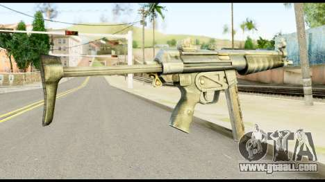 MP5 with Decomposed Butt for GTA San Andreas second screenshot