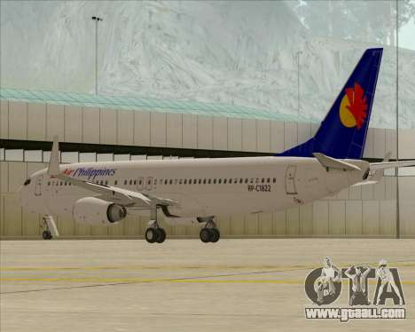 Boeing 737-800 Air Philippines for GTA San Andreas inner view