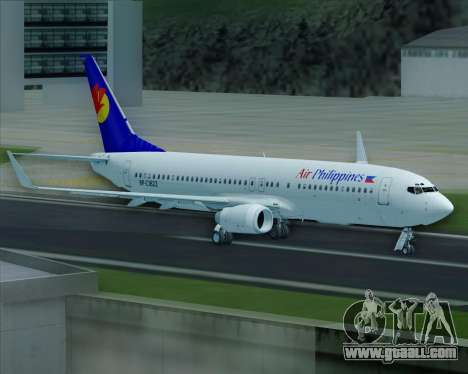 Boeing 737-800 Air Philippines for GTA San Andreas wheels