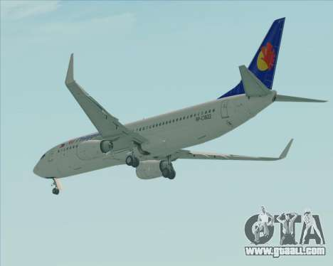 Boeing 737-800 Air Philippines for GTA San Andreas right view