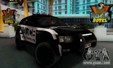 Bowler EXR S 2012 v1.0 Police for GTA San Andreas back left view