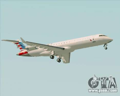 Bombardier CRJ700 American Eagle Airlines for GTA San Andreas right view