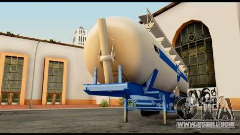 Mercedes-Benz Actros Trailer Schmidt for GTA San Andreas back view