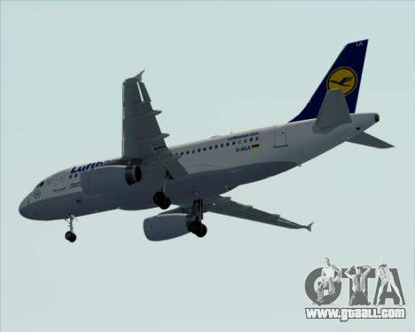 Airbus A319-100 Lufthansa for GTA San Andreas upper view