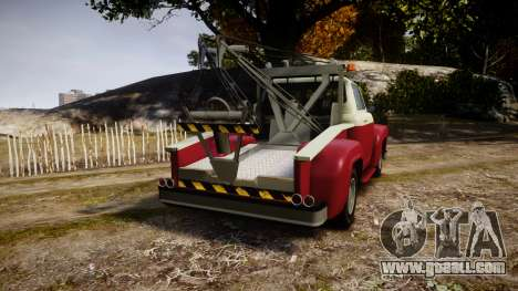 Vapid Towtruck Restored stripeless tires for GTA 4 back left view