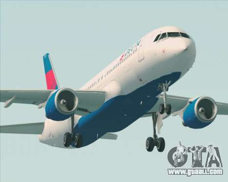 Airbus  A320-200 Delta Airlines for GTA San Andreas wheels