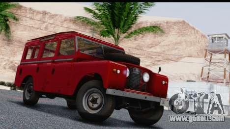 Land Rover Series IIa LWB Wagon 1962-1971 for GTA San Andreas