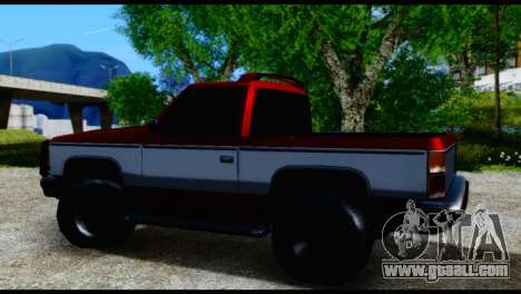 Rancher Hunter for GTA San Andreas back left view