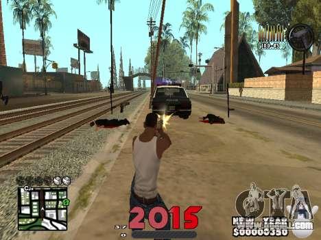 CLEO HUD New Year 2015 for GTA San Andreas third screenshot