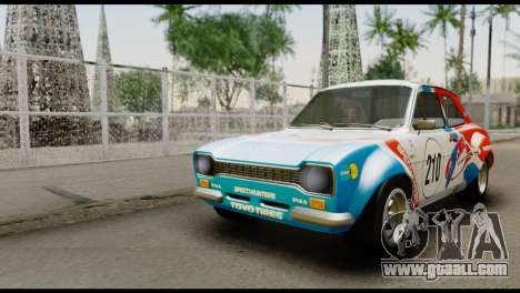 Ford Escort Mark 1 1970 for GTA San Andreas upper view