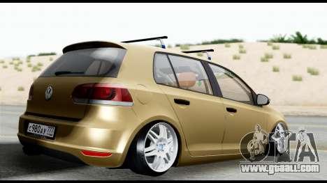 Volkswagen Golf 6 for GTA San Andreas left view