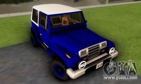 Messa Off-Road Styling pack v1 for GTA San Andreas left view