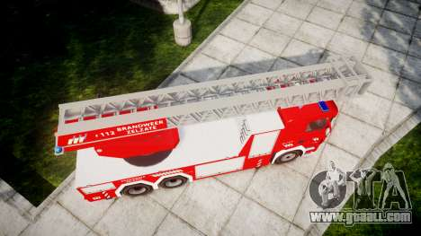 Scania R580 Belgian Fireladder [ELS] for GTA 4 right view