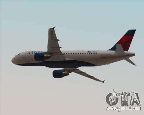 Airbus  A320-200 Delta Airlines for GTA San Andreas bottom view