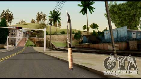 Survival Knife from Metal Gear Solid for GTA San Andreas second screenshot
