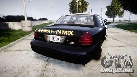 Ford Crown Victoria Highway Patrol [ELS] Slickto for GTA 4 back left view