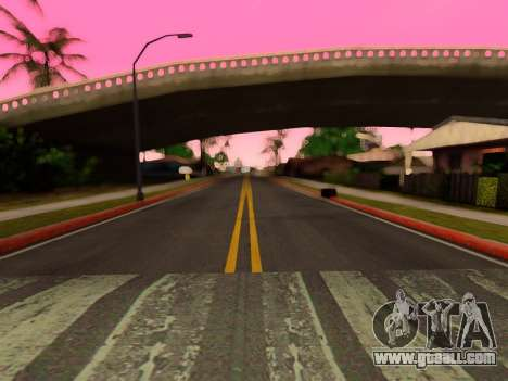Improved texture of roads for GTA San Andreas forth screenshot