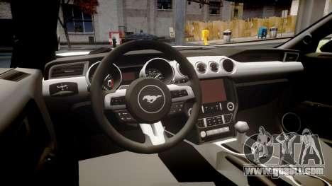 Ford Mustang GT 2015 Custom Kit alpinestars for GTA 4 inner view