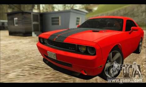 Dodge Challenger SRT-8 2010 v2.0 for GTA San Andreas