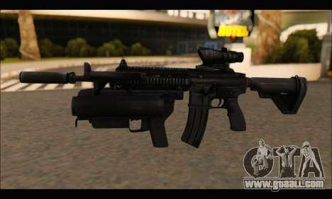 HK416 M320 Devgru for GTA San Andreas