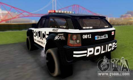 Bowler EXR S 2012 v1.0 Police for GTA San Andreas inner view