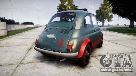 Fiat 695 Abarth SS Assetto Corse 1970 for GTA 4 back left view