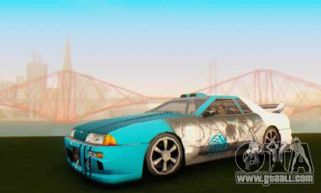 Elegy Skin Paintjob Skull for GTA San Andreas left view