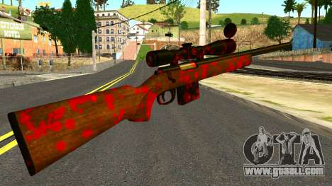 Rifle with Blood for GTA San Andreas second screenshot