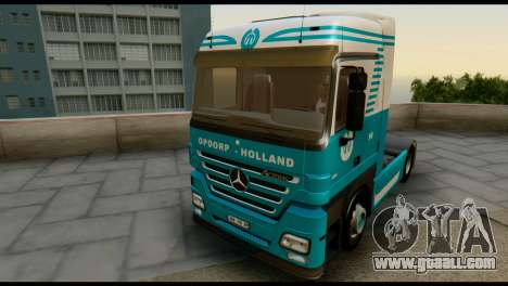 Mercedes-Benz Actros PJ1 for GTA San Andreas back view