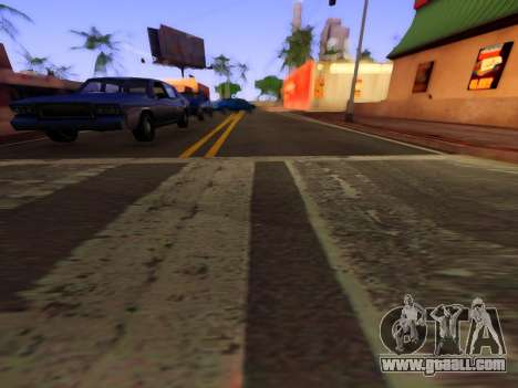 Improved texture of roads for GTA San Andreas third screenshot