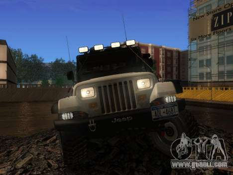 Jeep Wrangler 1986 Trophy for GTA San Andreas right view
