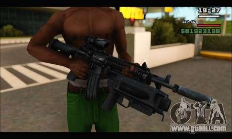 HK416 M320 Devgru for GTA San Andreas forth screenshot