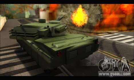Retextured Rhino Tank for GTA San Andreas right view