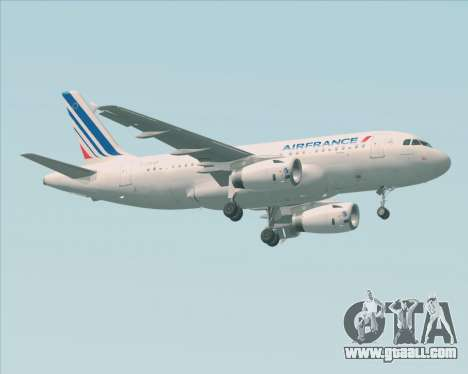 Airbus A319-100 Air France for GTA San Andreas left view