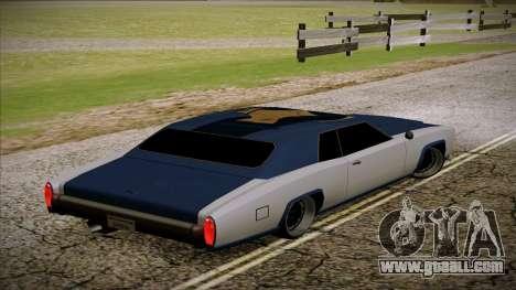 Buccaneer 2.0 for GTA San Andreas left view