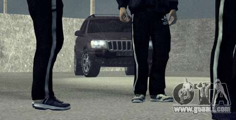 Jeep Grand Cherokee WJ for GTA San Andreas back left view