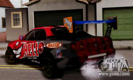 Nissan Skyline R34 HELL DT for GTA San Andreas left view
