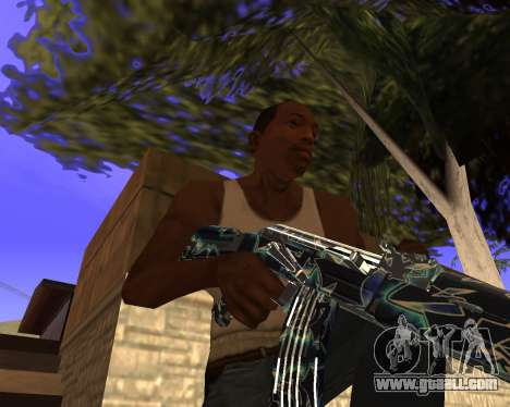 Blue Chrome Weapon Pack for GTA San Andreas seventh screenshot