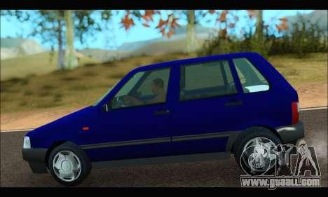 Zastava Yugo Uno for GTA San Andreas back left view