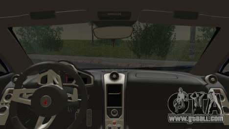 McLaren MP4-12C Gawai v1.5 HQ interior for GTA San Andreas back left view